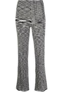Missoni Calça De Tricô Com Estampa Gráfica - Preto