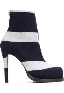 Sacai Ankle Boot Listrada - Azul