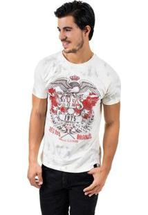 Camiseta Aes 1975 Eagle Flight Masculina - Masculino-Off White