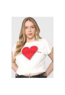 Camiseta Lança Perfume Coração Off-White