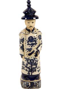 Escultura Decorativa Imperador De Porcelana Zizhen