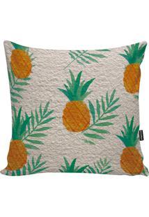Capa Para Almofada Impermeável Pineapple- Bege Claro & Vstm Home