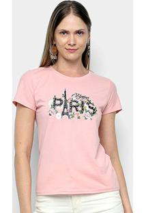 Camiseta Sofia Fashion Paris Feminina - Feminino-Rosa