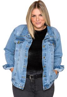 Jaqueta Jeans Sislla Giorgia Azul