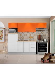 Cozinha Compacta Play 6 Pt 3 Gv Branca E Laranja