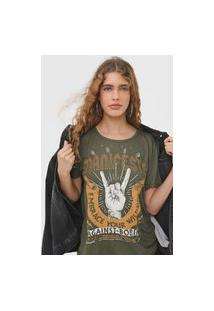 Camiseta Colcci Manifesto Verde