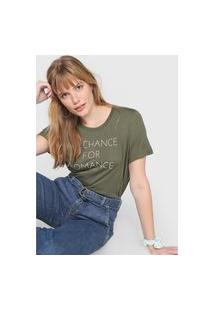 Camiseta Colcci No Chance For Romance Verde