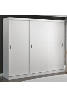 Guarda-Roupa Casal 3 Portas De Correr 100% Mdf 1904 Branco - Foscarini