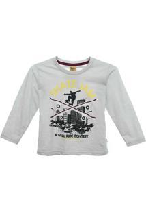 Camiseta Flame - Masculino-Cinza