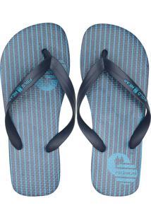 Chinelo Polo Wear Listras Azul-Marinho