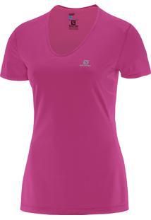 Camiseta Comet Ss M Rosa Feminina - Salomon