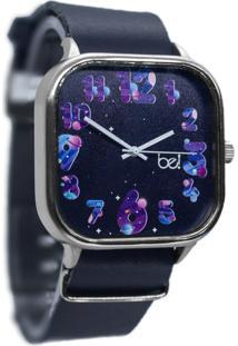 Relógio Aurora Bewatchoficial Pulseira De Couro Navy