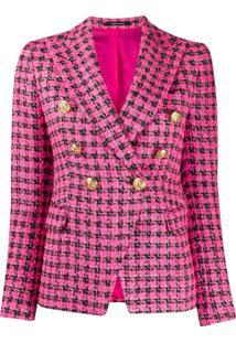 Tagliatore Jaqueta De Tweed Com Abotoamento Duplo - Rosa