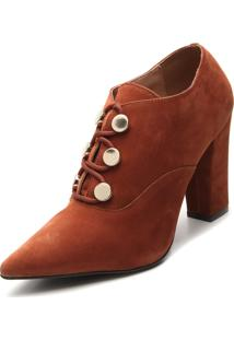Ankle Boot Via Uno Camurça Caramelo