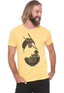 Camiseta Colcci Send Me Noodles Amarela