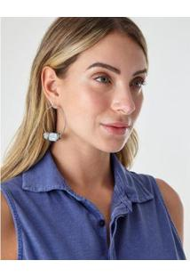 Brinco Pedra Olivia - Zinzane Feminino - Feminino-Azul