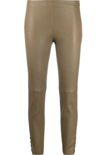 Theory Slim Fit Trousers - Verde