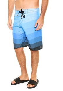 Bermuda Água Fiveblu Stripe Waves Azul