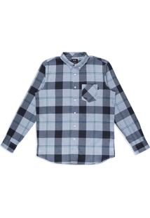 Camisa Masc Mod Ls Shred Woven