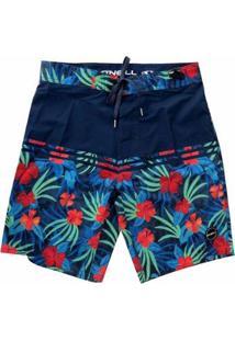 Bermuda Boardshort O'Neill Tropics Blue - Masculino-Azul