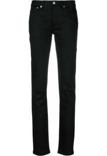 A.P.C. Calça Jeans Slim Fit - Preto