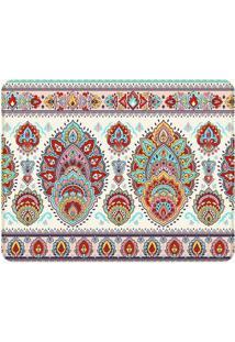 Tapete Indian Floral- Vermelho & Roxo- 125X90Cm-Wevans