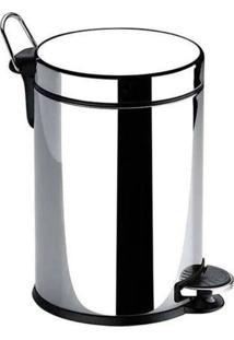 Lixeira C/ Pedal 5 Litros Inox Com Balde RemovãVel - Brinox - Incolor - Dafiti