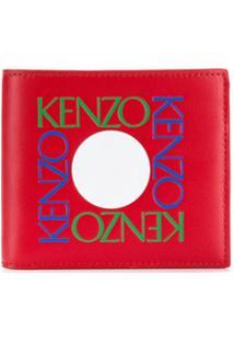 Kenzo Carteira Com Logo Gravado - Vermelho