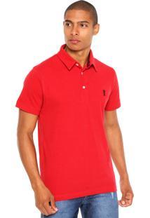 Camisa Polo Sergio K Estampada Vermelha