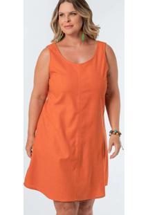 Vestido Almaria Plus Size Munny Curto Liso Vermelh