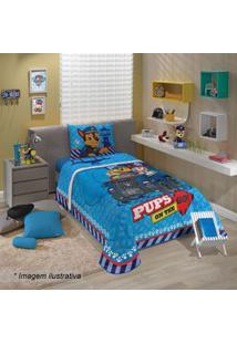 Lepper Edredom Patrulha Caninaâ® Solteiro Azul & Azul Escuro 150X210Cm