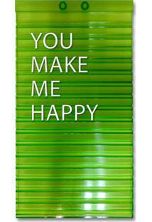 Quadro Adoraria De Letras Personalizáveis - Verde