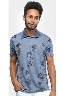 Camisa Polo Ellus Digital Flowers Masculina - Masculino-Jeans