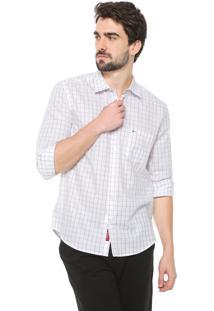 Camisa Aramis Reta Xadrez Branca