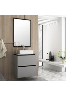 Gabinete Para Banheiro Elegante Mdf 60Cm Lilies Mã³Veis - Cinza - Dafiti
