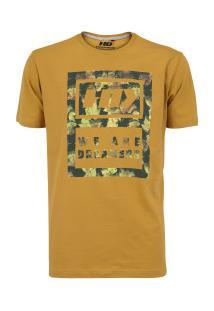 Camiseta Hd Estampada Camo Lea - Masculina - Amarelo