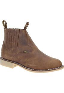 Bota Couro Urbana Boot Masculino - Masculino-Marrom Claro