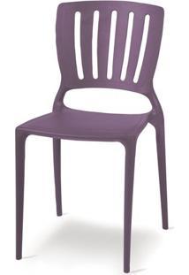 Cadeira Sofia Encosto Vazado Vertical Lilas 92035080