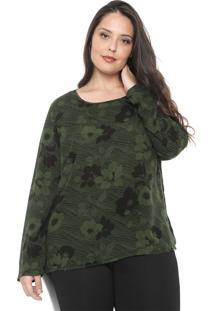 Blusa Cativa Plus Floral Verde