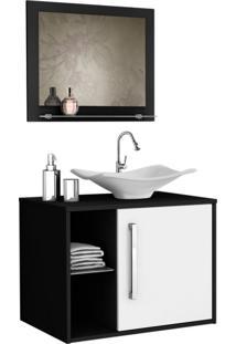 Conjunto Para Banheiro Baden Preto E Branco