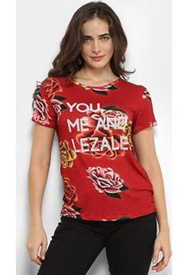 Camiseta Lez A Lez Estampada You And Me Feminina - Feminino-Floral