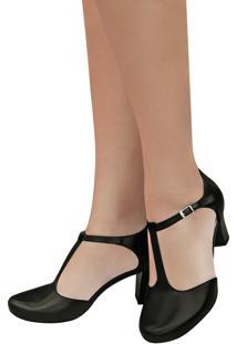 Sapato De Dança Preto Duani Ritmus Salto Médio Confortável