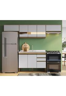 Cozinha Completa Mdf 4 Peã§As Mel E Off White Lilies - Marrom/Off-White - Dafiti