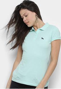 Camisa Polo Acostamento Feminina - Feminino-Verde