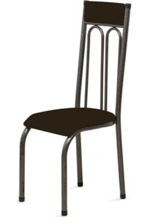 Cadeira Marcheli Anatômica 0.120 Estofada Craqueado/Tabaco