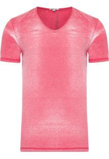 Camiseta Masculina Manga Curta Logo Lateral - Vermelho