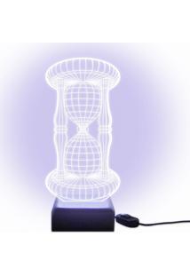 Luminária Acrilize Ampulheta Incolor