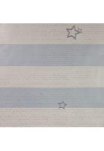 Kit 2 Rolos De Papel De Parede Para Menino Listras Azul E Branco - Kanui