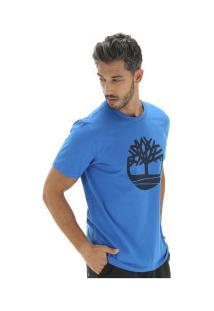 Camiseta Timberland Kennebec Rvr Tree - Masculina - Azul