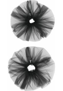 Atu Body Couture Scrunchie Com Tule - Preto